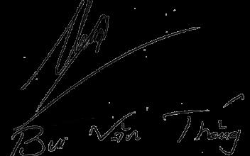 Mẫu chữ ký tên Thắng
