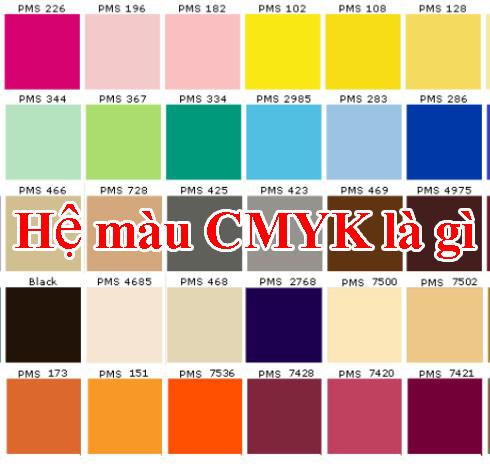 Hệ màu CMYK là gì