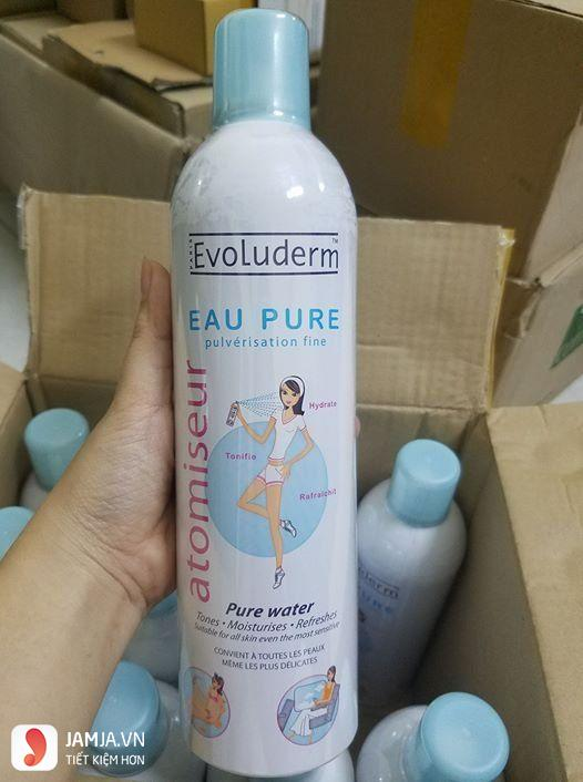 Review chi tiết sản phẩm xịt khoáng Evoluderm có tốt không?