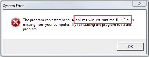 [solved] api-ms-win-crt-runtime-l1-1-0.dll is missing - driver easy