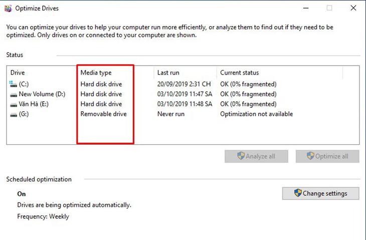 3 cách kiểm tra máy tính, laptop dùng ổ ssd hay hdd chuẩn xác nhất