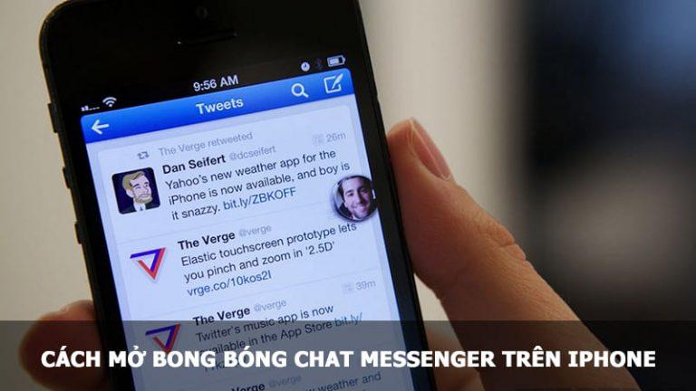 mở bong bóng chat messenger trên iphone