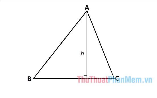 công thức tính đường cao trong tam giác