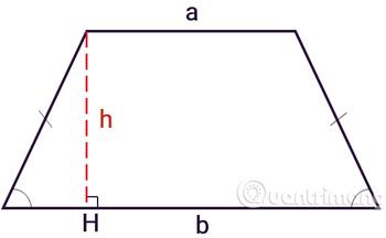 công thức tính diện tích hình thang: thường, vuông, cân