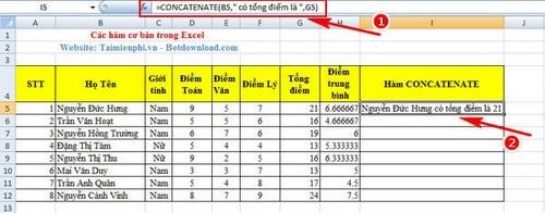 [taimienphi.vn] hàm          căn bản excel, hàm thông dụng trong excel, sum, count, if, left, av