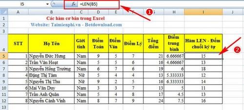 [taimienphi.vn] hàm chính yếu excel, hàm thông dụng trong excel, sum, count, if, left, av