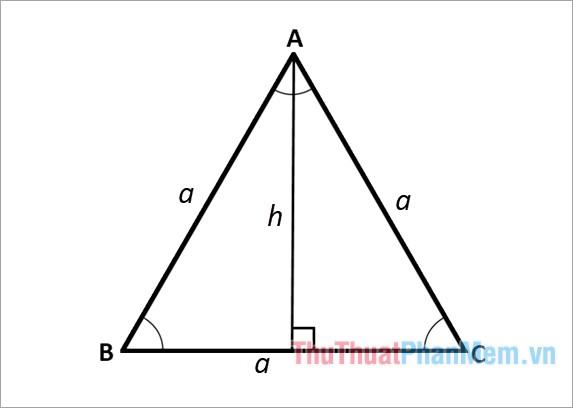 cách tính Đường cao của tam giác vuông cân, công thức tính Đường cao trong tam giác vuông cân