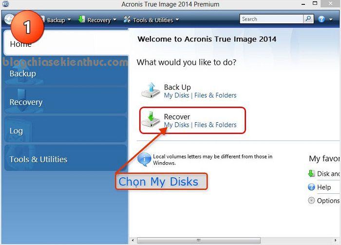 hướng dẫn ghost bằng acronis true image 2014, cách tạo file ghost bằng acronis true image