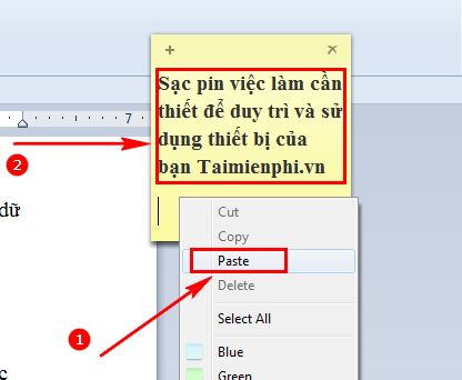 [taimienphi.vn] cách sửa lỗi không gõ được tiếng việt trong sticky notes