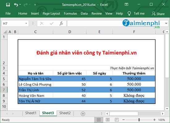 [taimienphi.vn] tô màu xen kẽ hàng, cột, các dòng trong excel, ví dụ và cách dùng