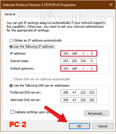 làm thế nào để chia sẻ dữ liệu giữa 2 máy tính qua mạng lan?