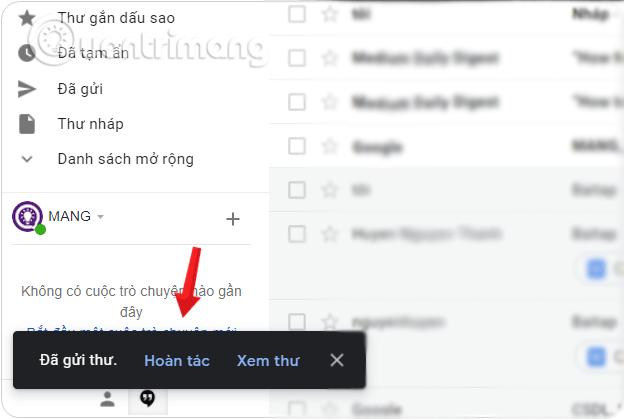 cách thu hồi email đã gửi trong gmail